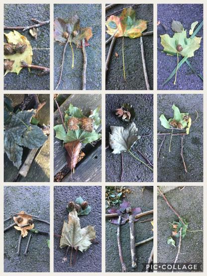 YR: Forest School Collage - Stickman