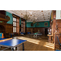 Games room with pool, air hockey & table tennis