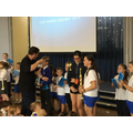 Isabella & Sofia were joint winners for their incr