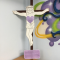11th station - Jesus is nailed to the cross