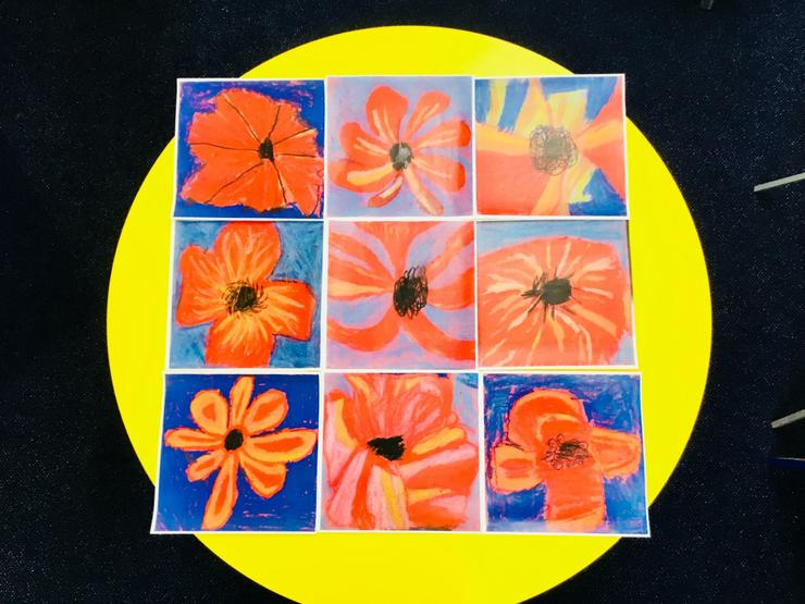 Arts Week: Y2 Pastel Poppies inspired by O'keefe