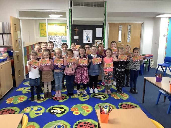 Walk to School Week awards!