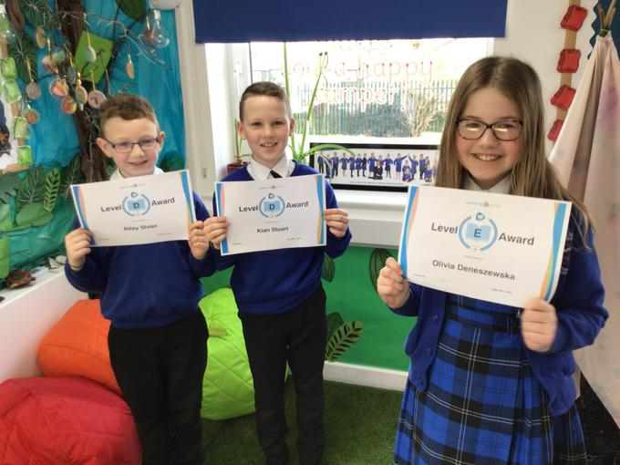 Certificates are awarded each week for effort, attainment and progress in Reading