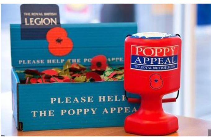 We suport the British Legion Poppy Appeal every year
