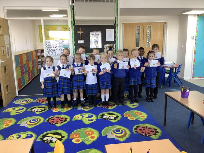 Well done to this week's children who got their strive for 5 award!