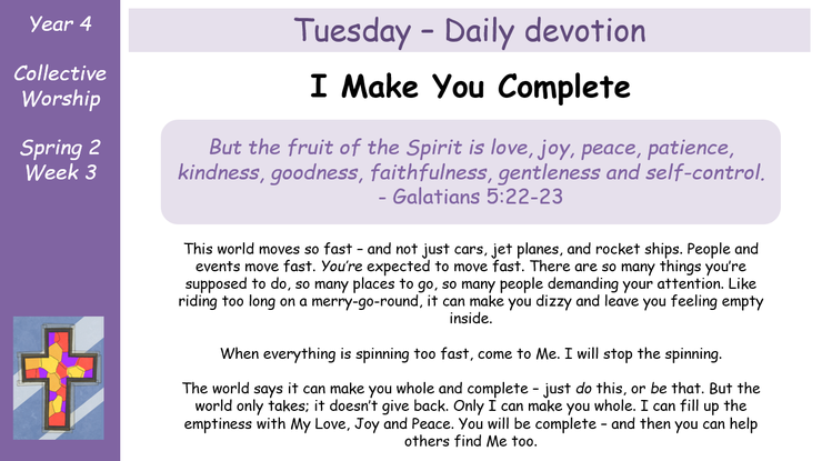 Tuesday - Daily Devotion