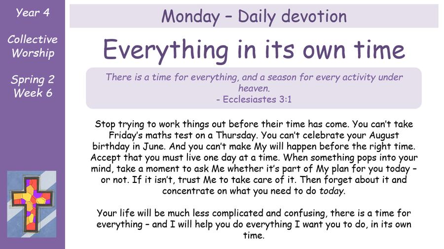 Monday - Daily Devotion