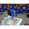 Using directional language to move around a map!