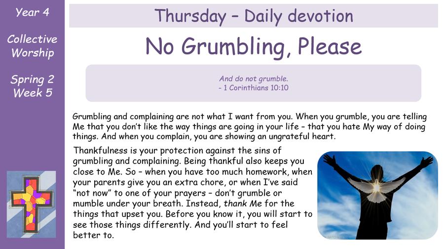 Thursday - Daily Devotion