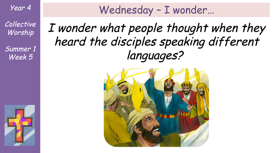 Wednesday - I Wonder...