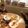 Colour mixing to make Autumn colours