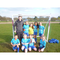 The girls with team manager Mr Keady