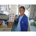 Naomi with a superb array of Egyptian artifacts.