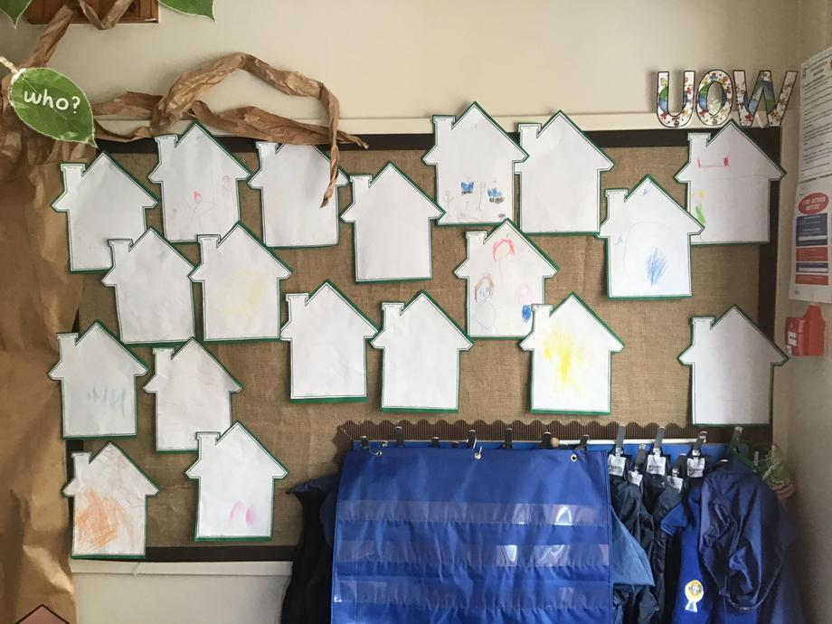 We drew pictures of the people that live in our house.