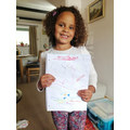 Zuri has been listening to music and drawing.