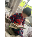 Niamh has been reading lots at home.