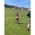 Niamh flying a kite!