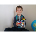 Andrew made a church out of lego.