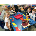 Sorting objects by colour, shape and size.