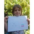 Maja has been doing arrays in maths. Great work!