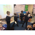 Acting out the story about Rama and Sita