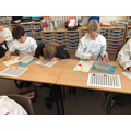 We are busy painting colour wheels, thinking about different tints and shades.