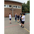 Year 4 taking part in a conscience alley activity based on Leon and the Place Between.