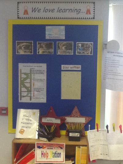 Our 'Positive Environment' board