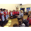We sang 'The whole world in his hands'.