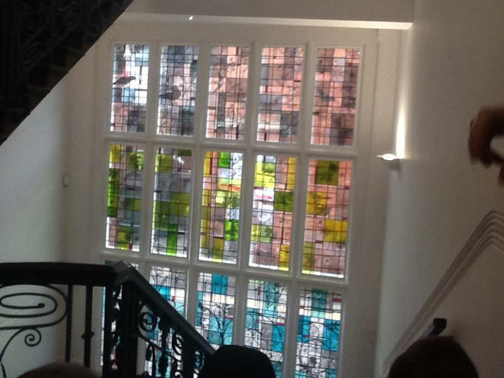 A historical stain glass window