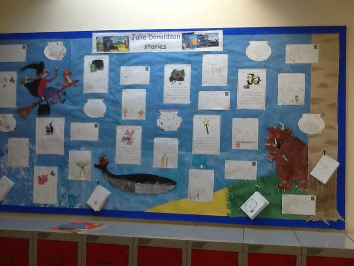 Our writing based on Julia Donaldson stories.