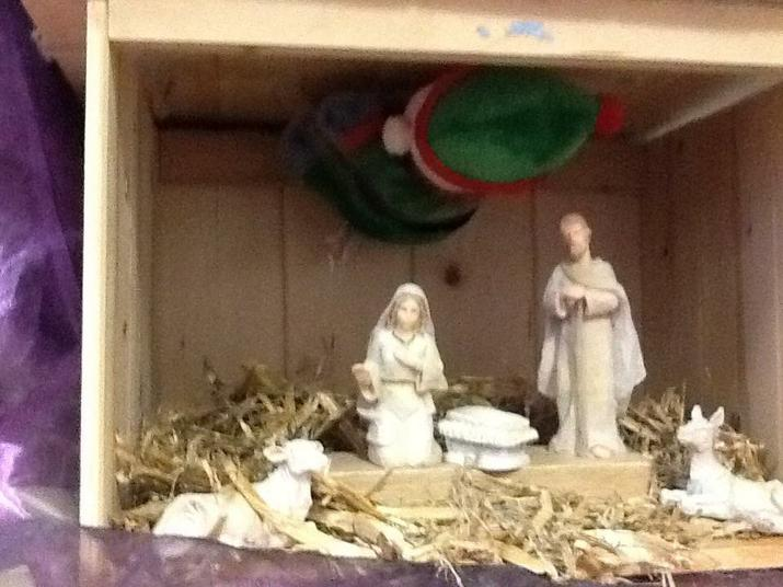 Trapped in the stable by Mary and Joseph.