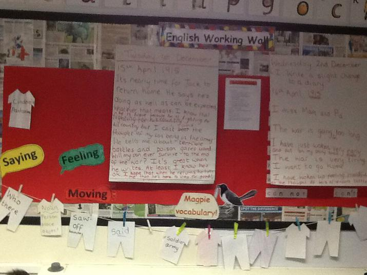 English- diary writing