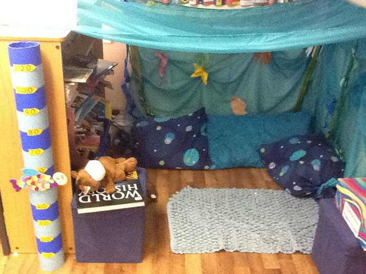 Our Under the sea reading area.