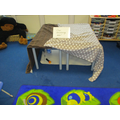 Our writing den! We drew and wrote about maps.