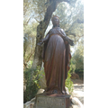 Statue of Our Lady outside her house on Mount Bulbul Dagi