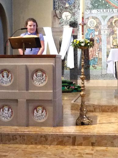 We read the Gospel from the lectern...