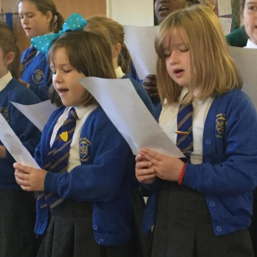 Singing our Psalm in the choir...