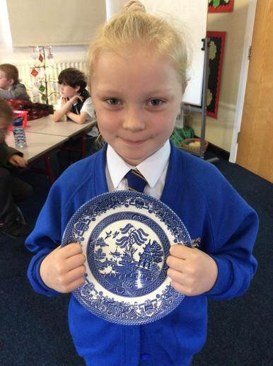 A replica Chinese Willow plate...