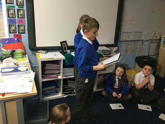 Some children read out the bidding prayers