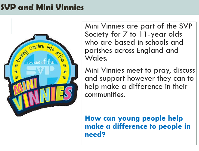 In Y3 we have 18 Mini Vinnies to be inpsired by St. Vincent de Paul. Wow!