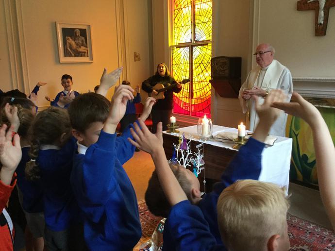 Celebrating Mass!