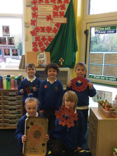 We made poppies and wreaths.