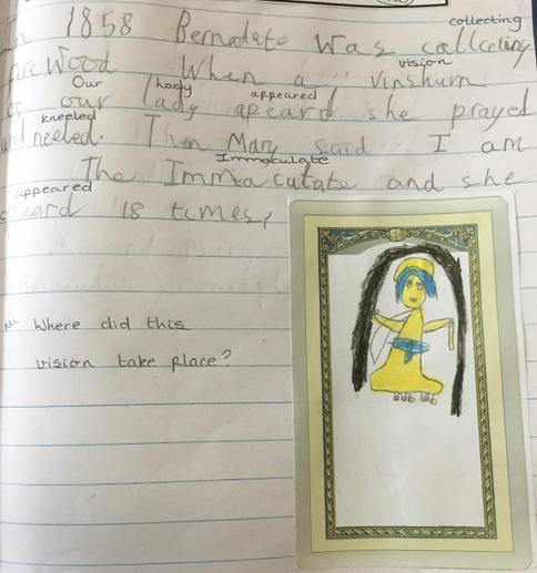 We drew what Bernadette saw.
