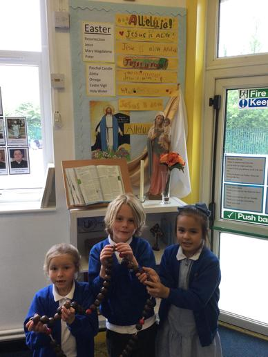 Our Chaplaincy Team led our prayers. We said a decade of the Rosary each day.