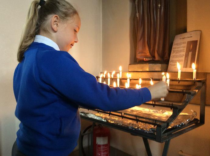 Rowan class prayed for religious vocations.