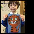 Tiger in pastel...