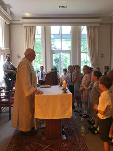 Celebrating Mass with Father Sean!