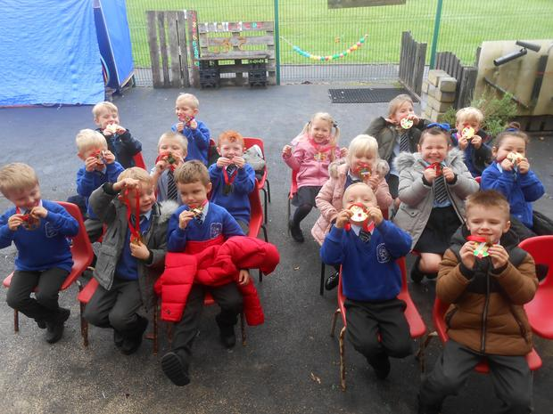 We awarded medals that the children have awarded themselves. Well Done Everybody!