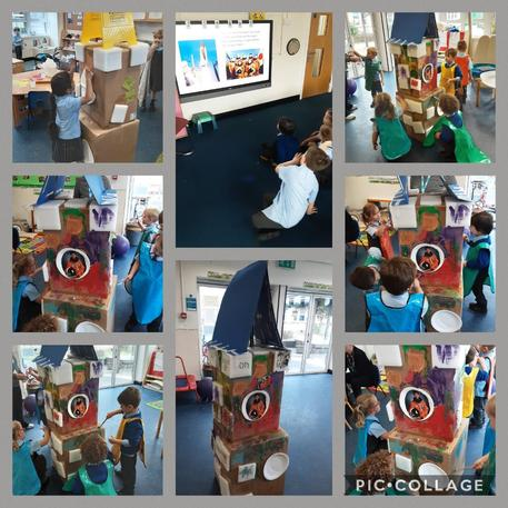 We made a model of her space rocket 'Endeavour'